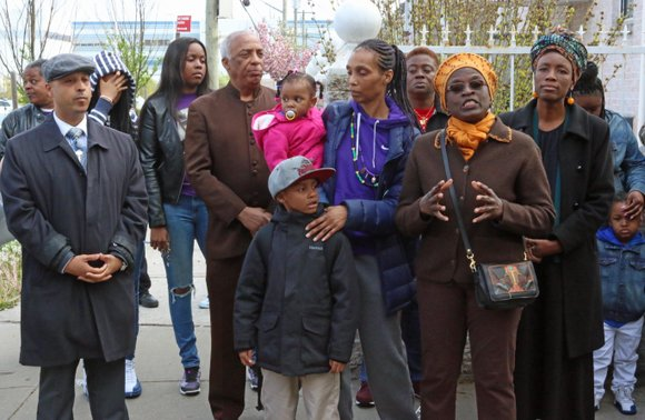 This week family members, community leaders and residents gathered for a street co-naming ceremony for Tanaya Copeland