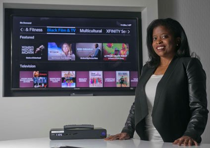 Keesha Boyd posted a photo of herself posing in front of her family's television on her company's website. She was ...