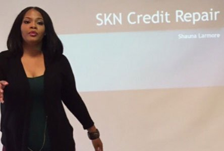 Shauna Larmore, owner of SKN Credit Services, is a Glen Burnie resident who is on a mission to remind others ...