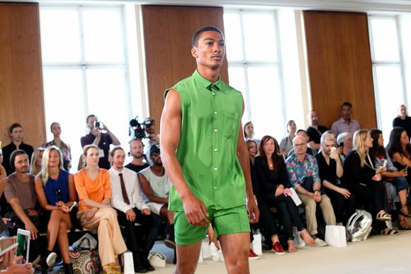 Two young fashion designers showed contemporary sportswear collections at Mercedes Benz Fashion Week Previews in Berlin.