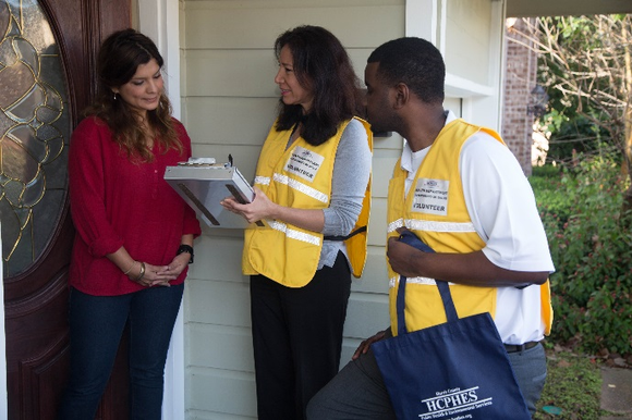 Staff and volunteers from Harris County Public Health & Environmental Services (HCPHES) will be going door to door in recently ...