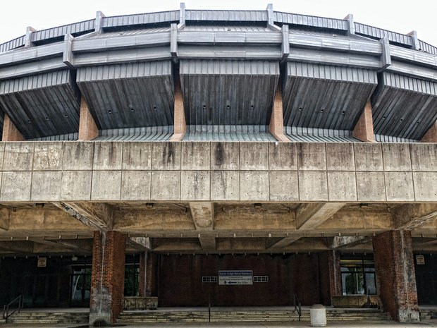 The Richmond Coliseum, now 45 years old, has long passed its prime as a shining example of city progress. Now it is a symbol of the infrastructure challenges the city faces.
