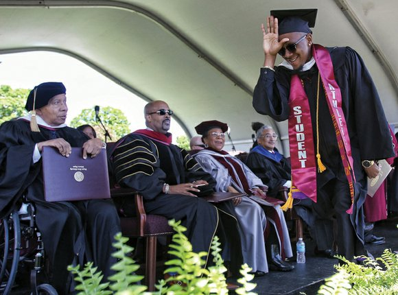 Tears of joy, smiles and cheers mark the graduation ceremony last Saturday for Virginia Union University's Class of 2016.