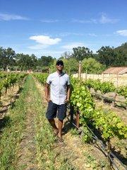 Reggie at Tablas Creek Wineyard