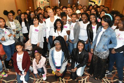 Baltimore's own R &B artist Brave Williams and Bravo Television's Cyrene Tankard were just two of the many speakers at the Brown Girls Village event.