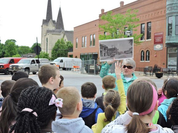 Third graders in Kelly Hatzer's third grade classroom took a tour of downtown Plainfield in May that is part of ...