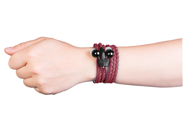 Wraps are fashionable, tangle-free twist and wear headphones that come in a number of braided, beaded and bracelet styles, in a variety of colors, suitable for men, women, teens and kids.