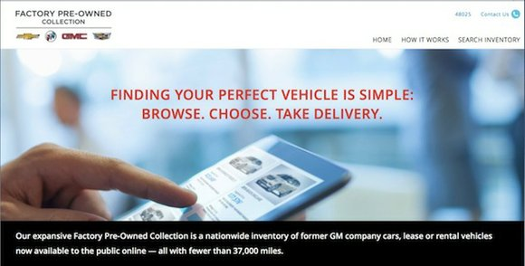 General Motors' recently announced service for online shoppers who are looking for a used Chevrolet, Buick, GMC or Cadillac vehicle, ...