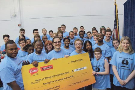 Students at the Harbour School Baltimore are on a quest to fight hunger.