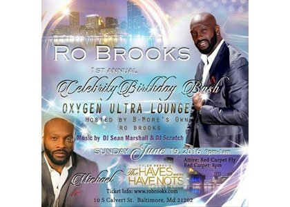 On Sunday, June 19, 2016 at 8 p.m. at the Oxygen Ultra Lounge, Baltimore's very own Ro Brooks who plays ...