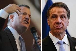 A simple decision led to yet another tug-of-war between New York City Mayor Bill de Blasio and New York State ...