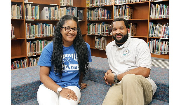 Ridgely Carter-Minter and her brother, Gilbert Carter Jr., were named Teacher of the Year at their respective schools in Richmond. Mrs. Carter-Minter teaches fifth grade at Woodville elementary School, and Mr. Carter is a special education teacher at Boushall Middle School.
