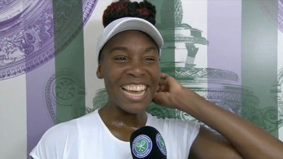 Venus Williams was all smiles, and even giggled a little as she defied expectations and earned a spot in the ...