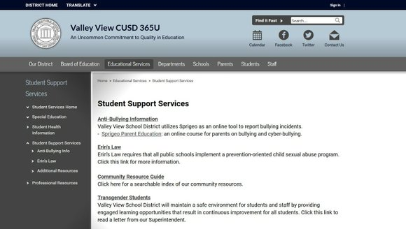 Valley View School District 365 has unveiled a new web portal re-designed for ease of use by parents.