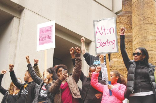 A sweeping march in downtown Portland happened before the Dallas violence on Thursday in the wake of the officer-involved shootings.