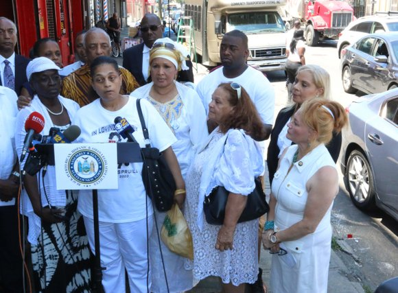 As protests sweep the nation for the Black lives lost last week, family and friends of Delrawn Small gather to ...