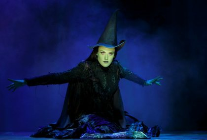 Emily Koch as Elphaba (the Wicked Witch of the West)