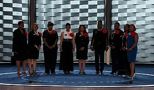 """Mothers of the Movement"""" speak at the Democratic National Convention in Philadelphia, Pennsylvania on Tuesday, July 26, 2016."""