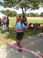 Members of the OrchKids program jump rope