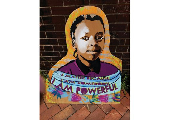 Large self-portraits born out of Richmond's ART 180 program with young people incarcerated at the Richmond Juvenile Detention Center are ...