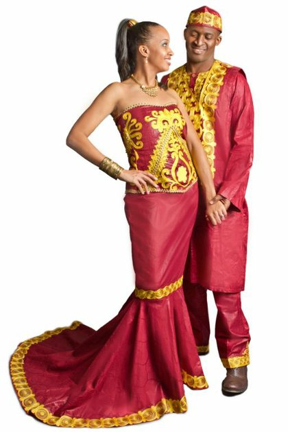 TeKay Designs can make matching bride and groom attire