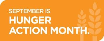 Hunger Action Month kicks off in September.