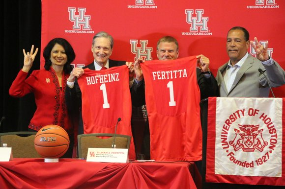 Tilman J. Fertitta, globally recognized entrepreneur and Chairman of the University of Houston System Board of Regents, presented a historic ...