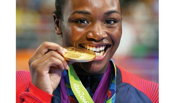 Claressa Shields brought one gold medal to the ring with her and left with two hanging around her neck after ...