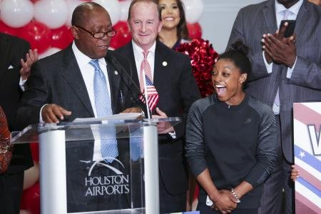 Houston has pulled out all the stops to welcome home all of our homegrown Olympians. The biggest celebration was saved ...