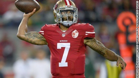 San Francisco 49ers quarterback Colin Kaepernick sat in protest during the national anthem for a pre-season game, saying he would ...