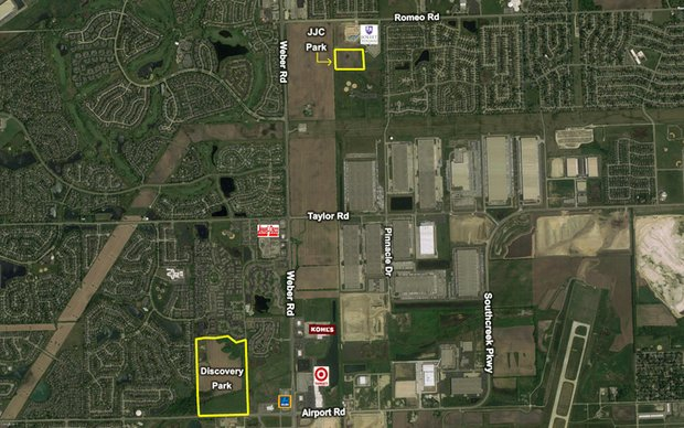 The planned Discovery Park in Romeoville.