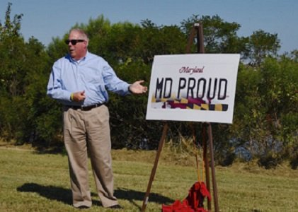 Governor Larry Hogan unveiled Maryland's new license plate design, which will feature the Maryland flag front and center.