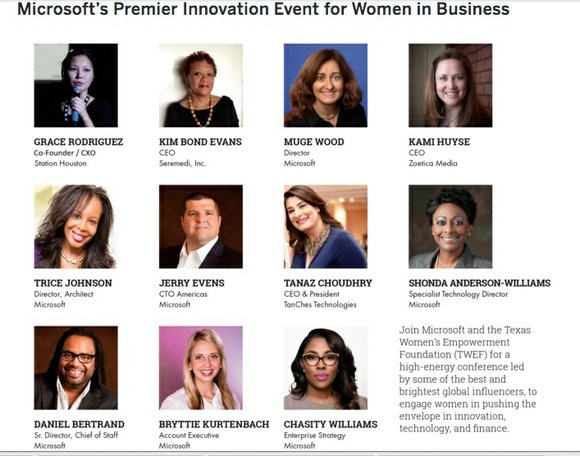 Microsoft and the Texas Women's Empowerment Foundation (TWEF) partner to host a powerful Women in Innovation one-day summit focused on ...