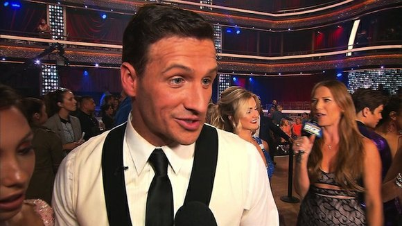 "Protesters rushed the stage after swimmer Ryan Lochte's first performance on ""Dancing with the Stars,"" interrupting the live show Monday ..."
