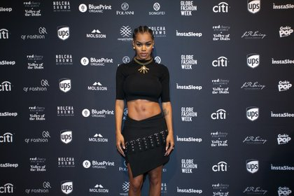 The star of Kanye West's music video FADE, Teyana Taylor wore Syu Syu Han for the occasion./Photo Credit: Nolcha Shows