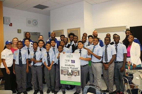 Monday, at the Eagle Academy for Young Men in the Bronx, the United Way of New York City and the ...