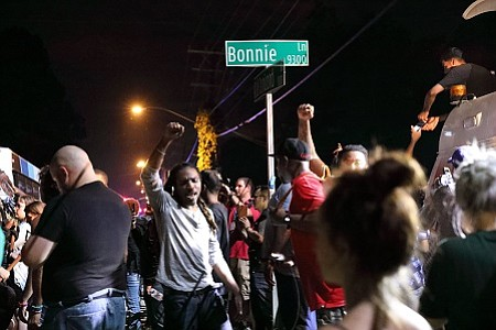 Tensions have resurfaced this week in the wake of another round of black men being shot by police.