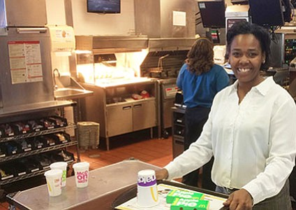 Ten years ago, Cameo Faust, a single mother of seven was working at an Atlanta-area McDonald's, struggling to make ends ...