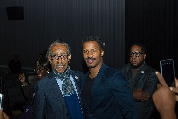 "Celebrating his 62nd birthday with the community, Rev. Al Sharpton hosted a screening of the film "" The Birth of ..."