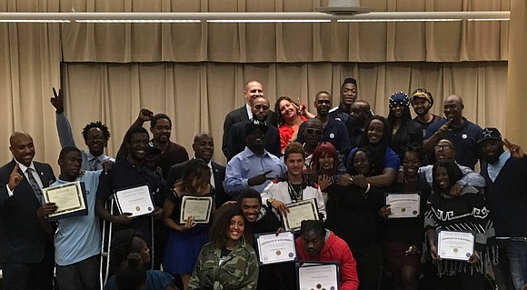 The first graduation ceremony of the Newark Street Academy was held last Friday at the Marion Bolden Student Center.