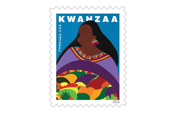 The Kwanzaa holiday is being saluted with a colorful new stamp from the U.S. Postal Service. The new stamp celebrating ...