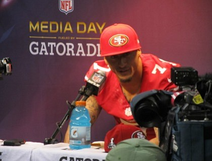 San Francisco 49ers quarterback Colin Kaepernick, who sparked a national movement in sports by not standing during the national anthem ...