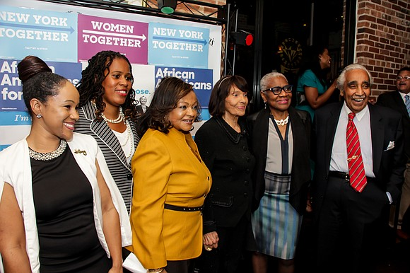 On Thursday night, over 200 key influencers gathered in Harlem to support 2016 presidential candidate Hillary Clinton.