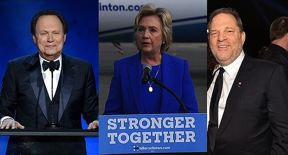 Hollywood East is gathering for a star-studded fundraiser for Hillary Clinton on Monday night..
