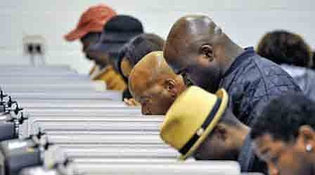Black voters wait longer to cast ballots, discouraging them from voting, according to a study released by the Joint Center ...