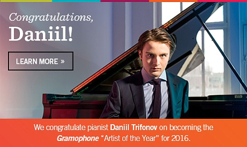 Recently voted Gramophone's 2016 Artist of the Year, pianist Daniil Trifonov will appear with the Houston Symphony for Trifonov Plus ...