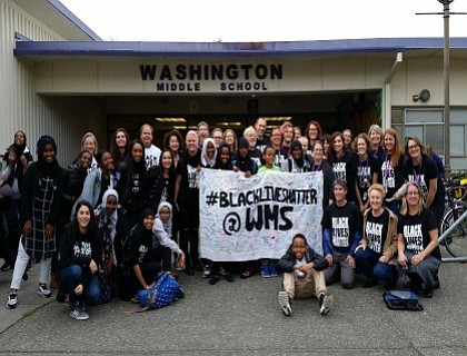 Thousands of Seattle teachers made for an inspiring sight when they wore Black Lives Matter shirts en masse to reinforce ...