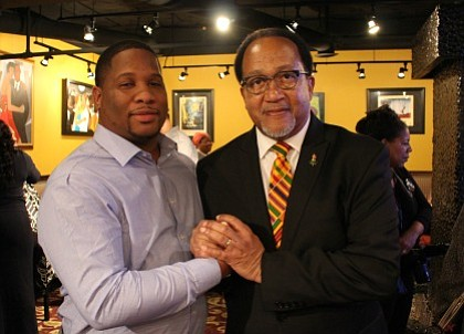 Davon Love of Leaders of a Beautiful Struggle and Dr. Benjamin Chavis