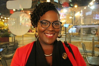 Amber J. Phillips, Co-Director of We Are Black and social justice activist at TV One Election Watch Party