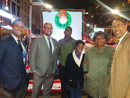 Members of the Harlem Community Development Corporation at the Parade of Lights